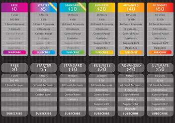 Glass List Pricing - vector gratuit #341753