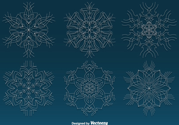 Christmas Ornament Snowflake Pack - Free vector #341813