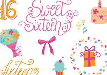 Free Sweet 16 Vectors - Kostenloses vector #341873
