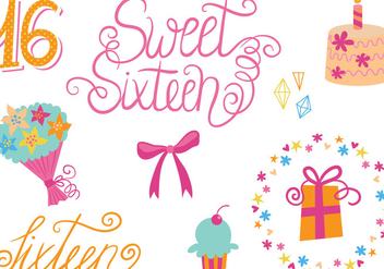 Free Sweet 16 Vectors - Free vector #341873