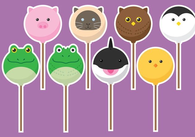Animal Cake Pops - vector #341883 gratis