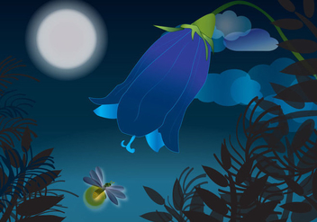 Beautiful Firefly Nights Vector - Free vector #341903