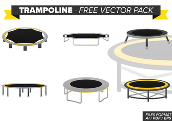 Trampoline Free Vector Pack - Free vector #341963
