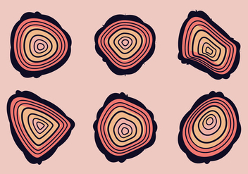 Free Tree Rings Vector Illustration #12 - Free vector #341983