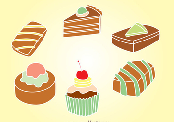 Choco Cake Set - Kostenloses vector #342293