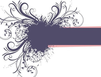 Grungy Swirls Frame Banner - vector gratuit #342433