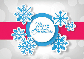 Merry Christmas vector illustration - Free vector #342603