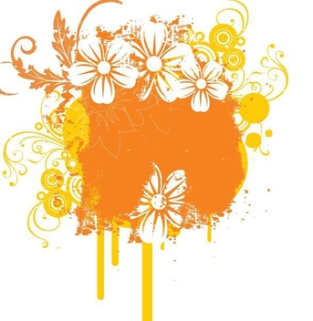 Grungy Flouring Splashes Decoration - Free vector #342843