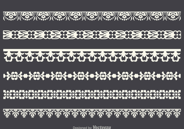 Free Vector Lace Trim Set - Free vector #342953