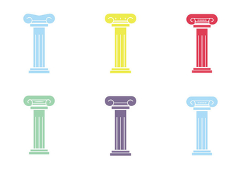 Free Roman Pillar Vector Icon - Kostenloses vector #342993