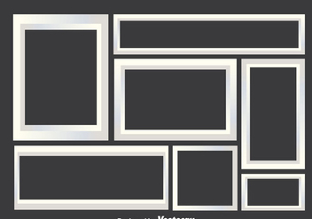 White Photo Collage Frames - vector gratuit #343143