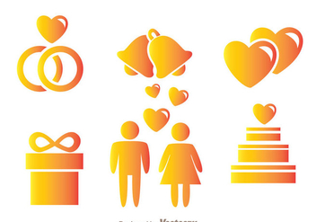 Wedding Icons - Kostenloses vector #343223