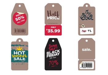 Vector Sale Symbols - Kostenloses vector #343233
