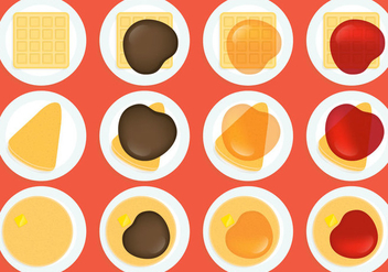 Crepes Waffles And Pancakes - vector gratuit #343253