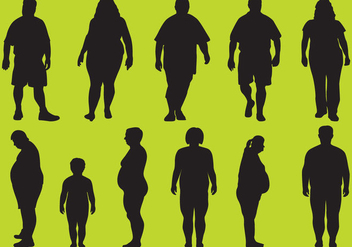 Fat Silhouettes - Free vector #343333