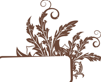 Rectangle Banner Grungy Floral Frame - vector gratuit #343473