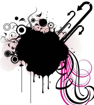 Grungy Splashed Abstract Decoration - vector #343813 gratis