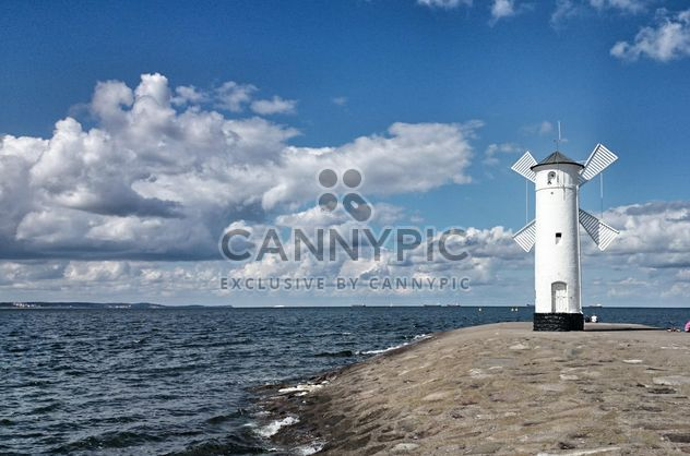White windmill in Swinoujscie in Baltic sea - бесплатный image #344043