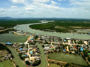 River banks from bird eye view - image gratuit #344073