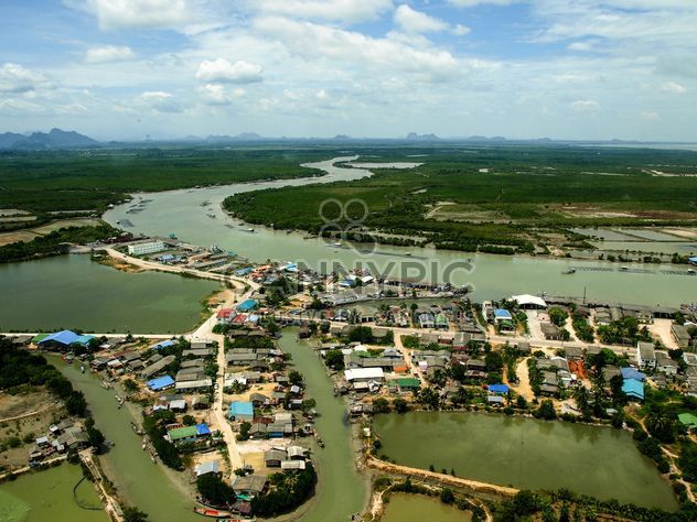 River banks from bird eye view - Free image #344073