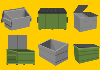 Dumpster Vectors - Kostenloses vector #344763
