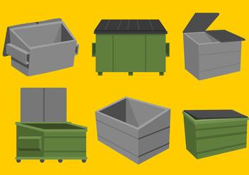 Dumpster Vectors - Free vector #344763