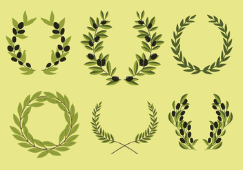 Olive Wreath - Free vector #344793