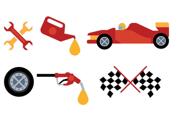 Pit Stop Vector - Free vector #344843