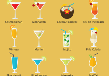 Cocktail Vectors - vector gratuit #344923