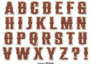 Gem Style Alphabet Set - Free vector #344953