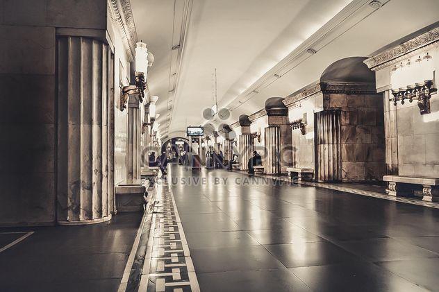 Interior da estação de metro de Moscovo - Free image #345023