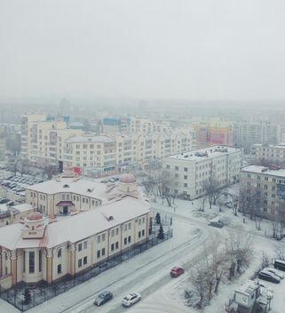 Aerial view on architecture of Chelyabinsk in winter - image #345043 gratis
