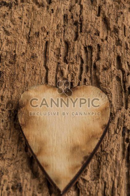 Holz Herzen auf hölzernen Hintergrund - Free image #345093