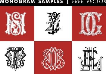 Monogram Samples Free Vector - vector gratuit #345263