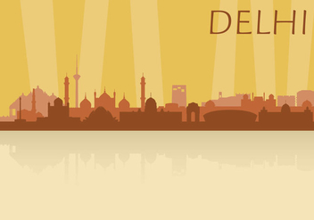 Delhi Skyline - vector #345313 gratis