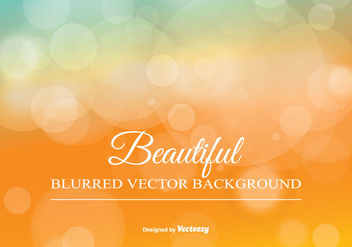 Blurred Bokeh Background Illustration - Free vector #345373