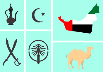 Vector Set of UAE Symbols - Free vector #345403