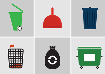 Garbage Vector Icons - бесплатный vector #345423
