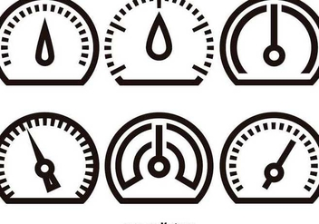 Tachometer linear icons - Free vector #345523