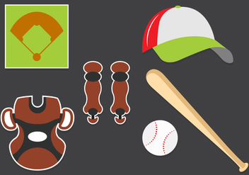 Vector Set of Baseball Symbols - Free vector #345603