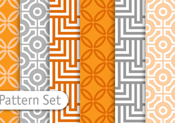 Orient Geometric Pattern Set - Free vector #345623