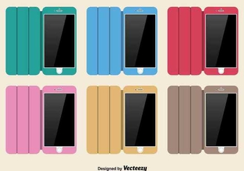 Colorful phone case set - vector gratuit #345633