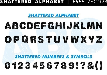 Shattered Alphabet Free Vector - vector gratuit #345693