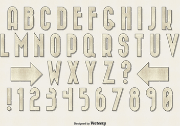 Retro Vintage Style Alphabet Set - Kostenloses vector #345713
