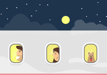 Plane Window Vector - vector #345723 gratis