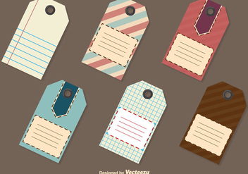 Retro Price Tag Templates - vector gratuit #345733