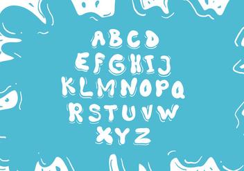 Water Font Vector - Free vector #345753