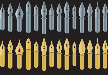 Pen Nibs Vectors - Free vector #345773
