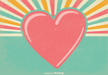 Old Retro Valentine's Day Background - Free vector #345973