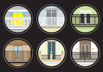 Various Balconies - Free vector #345993